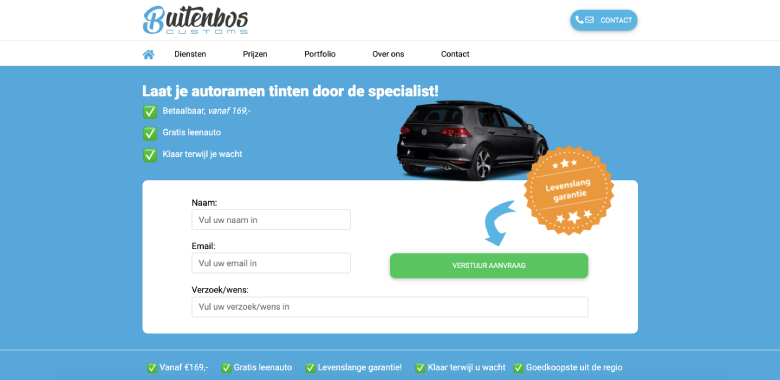 Buitenbos Customs website